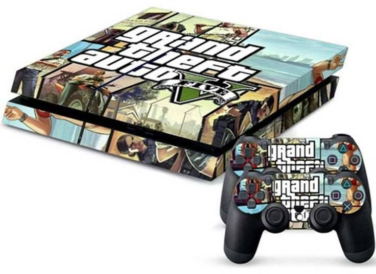 MODFREAKZ™ Console and Controller Vinyl Skin Set - Auto Crime Thief Gun for Playstation 4 #ps4 #gaming #customized #personalized #accessories