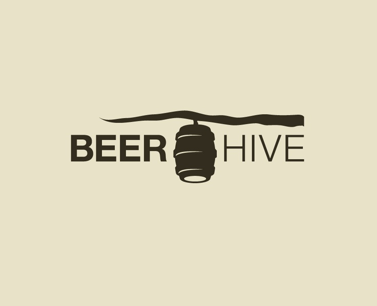 Beerhive logo by Andrew Newhouse using pictorial and abstract methods.