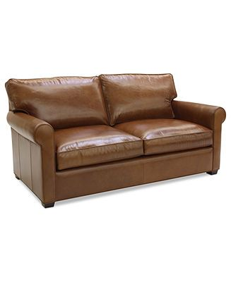 Lear Leather Sofa Bed Full Sleeper 75W X 40D 32H