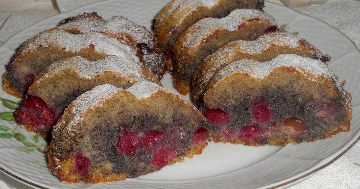 Mennyei Mákos-meggyes őzgerincben sütve recept! Finom, szaftos meggyes-mákos bögrésen! 1 bögre=2,5 dl