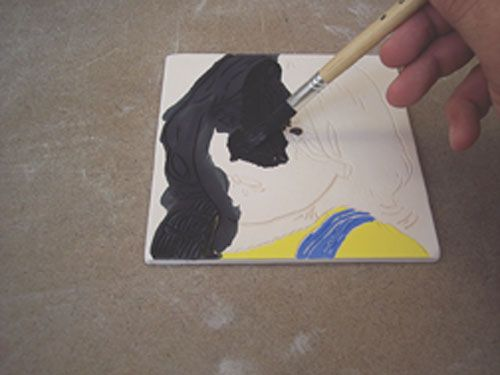 Fig.12 Breng zwarte glazuur.