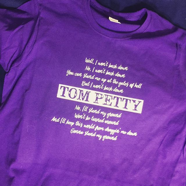 Sending a little bit of #TomPetty off to #germany #wontbackdown #standmyground #customtshirt #MadeByGramps at #chubtown