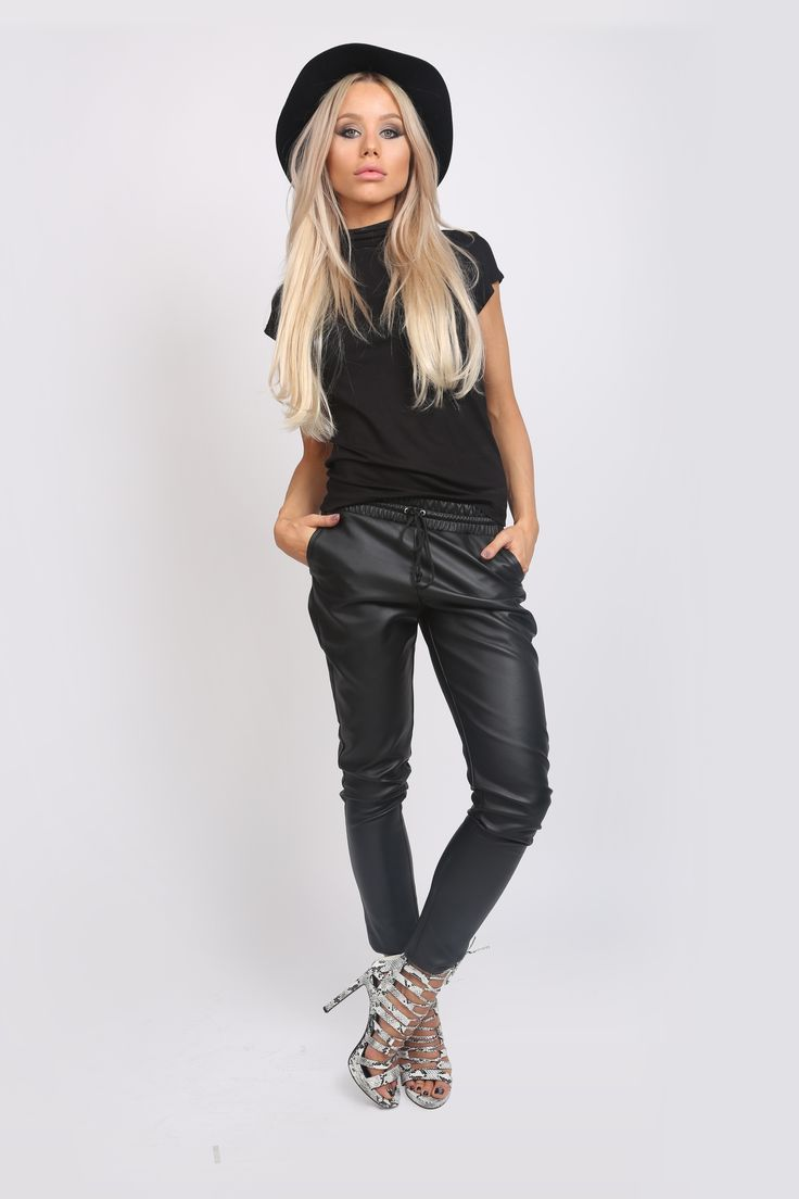 Casual Eco Leather Pants! http://www.noire.ro/product/casual-leather-pants/