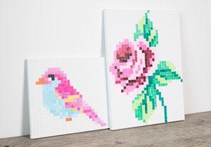 Volgens Anna hoeft het schilderen van kunstwerken niet moeilijk te zijn. Teken een raster op jouw schildersdoek en vul de vierkantjes in om een schilderij..