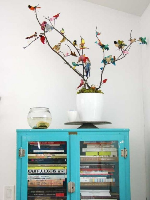 """THe turquoise shouts """"fun"""" and the bird branches are adorable.....My small fry and I will have to make our own!"""