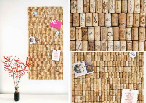 Quadro de rolhas   50 objetos que você mesmo pode fazer para organizar toda a sua vida