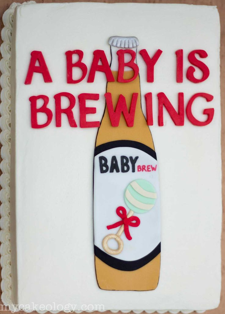 Got the idea for this cake from a baby announcement card by queenofheartspaper