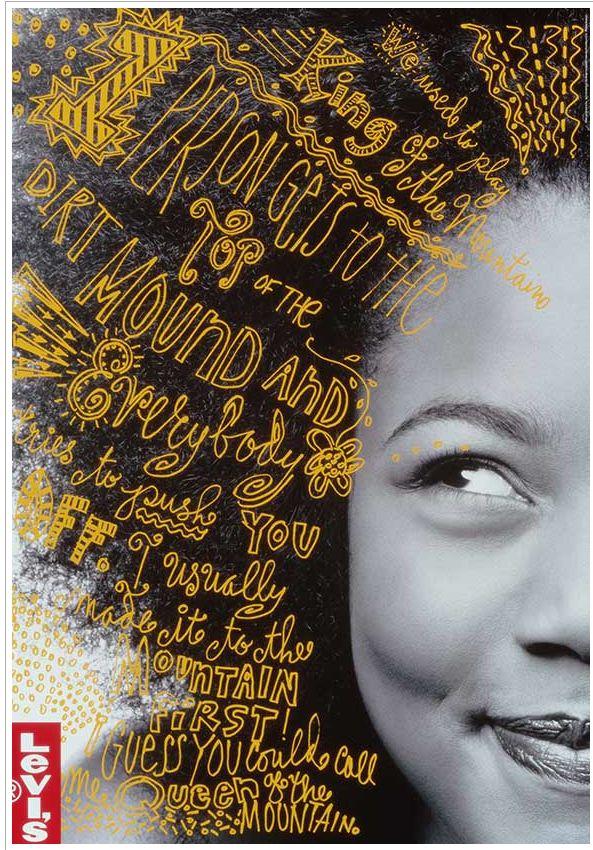 Poster Design for Levis designed by Jennifer Morla.