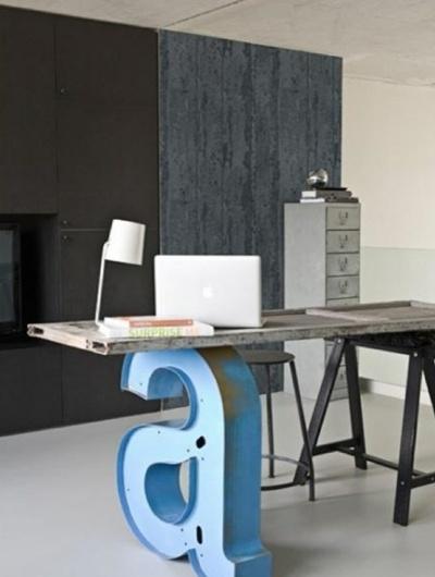 modern vintage work space