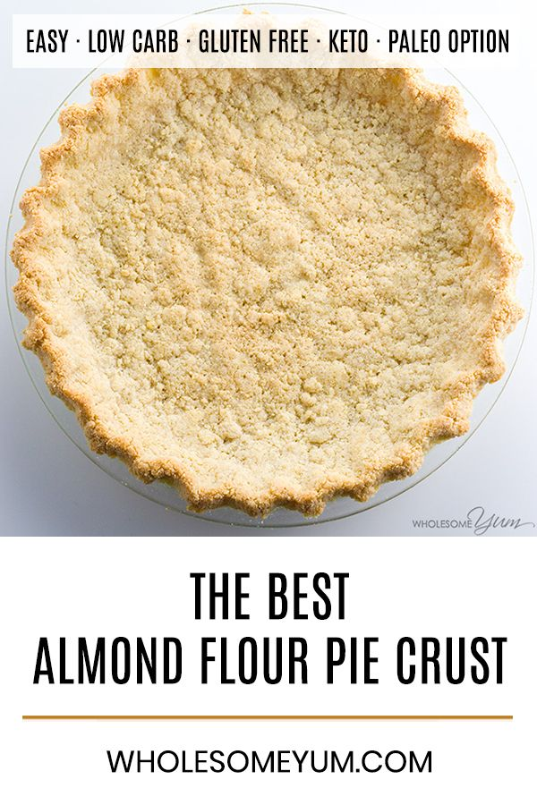 How to make pie crust with almond flour