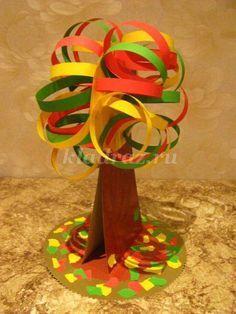 #knutselen, kinderen, basisschool, herfst, boom van karton en papier, #craft…