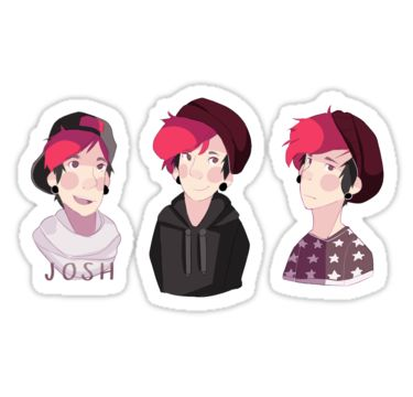 Some snazzy stickers to put anywhere. You can put them on your sketchbook, your laptop, your cat, or even Josh Dun (please don't put these stickers on Josh Dun I don't want to be responsible) • Also buy this artwork on stickers.