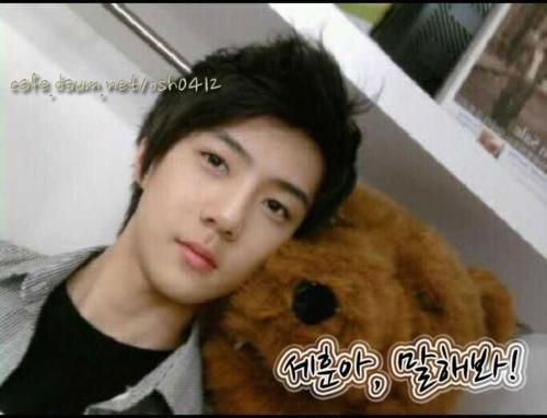 Predebut Hunnie. I somehow have an unlimited supply of predebut exo pictures... #exo