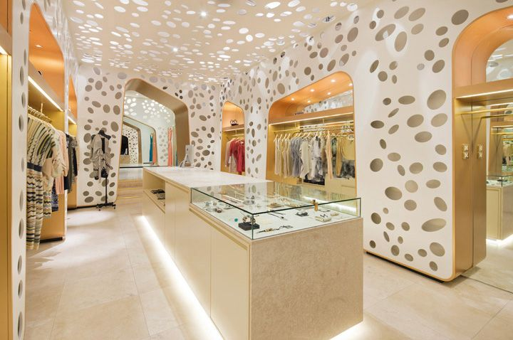 Oscar Wild store by Matt Gibson Melbourne.  Love the open, lacey yet modern feeling this creates.
