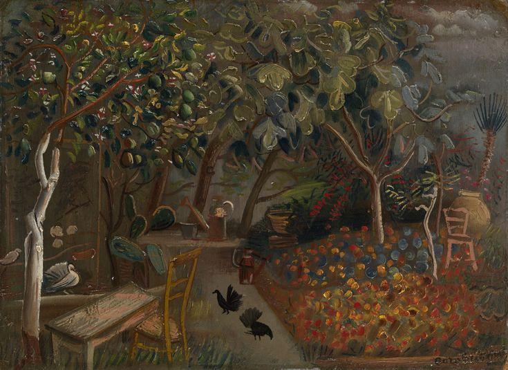 "BORIS RIGORIEV (1886-1939) -  ""Borisella, the Artist's Villa in Cagnes-sur-Mer"" 1937, Oil on cardboard, 40.5 by 56 cm."