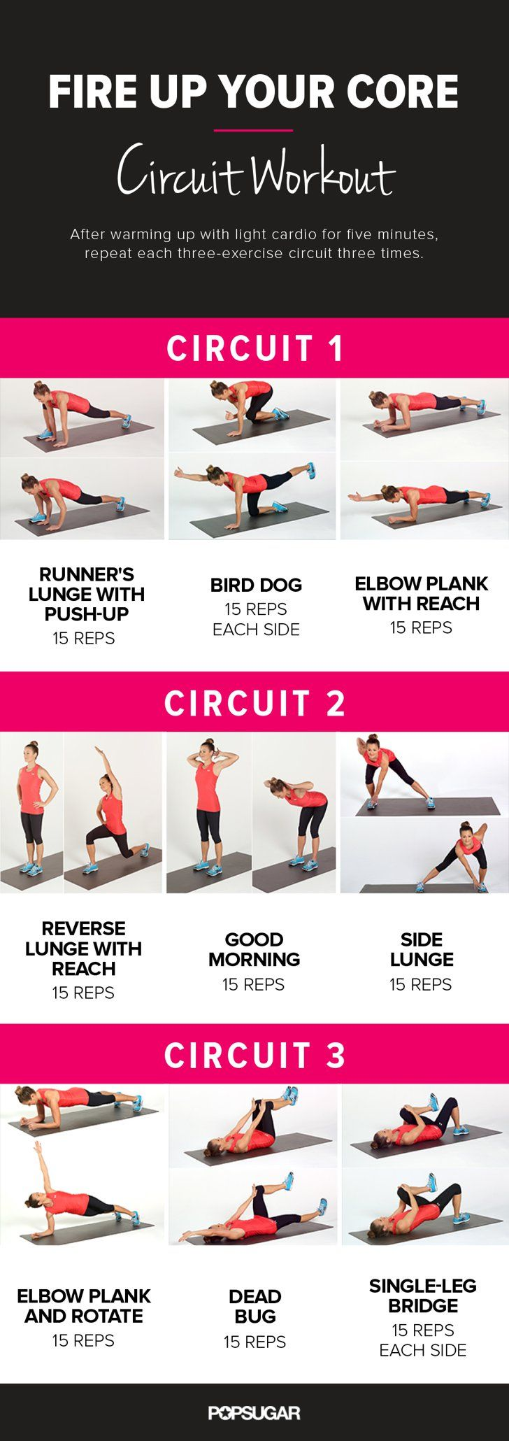 Fire Up Your Core Circuit Workout. East at-home core workout with no equipment necessary!