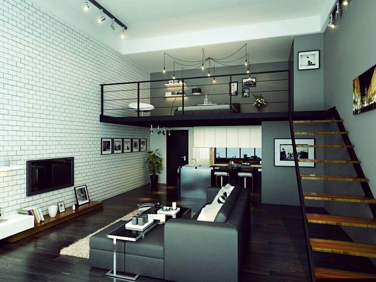 Industrial Interior Design Bedroom Industrial #interior #living #room #dining Area #kitchen Master