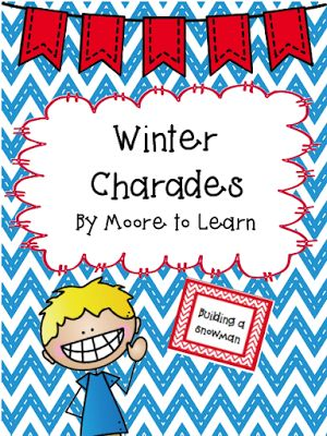 Winter Charades! Great for teaching verbs or to use at your winter Christmas party!