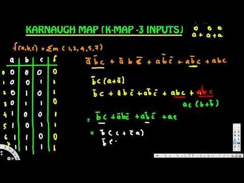 Karnaugh Map - (K - Map)   (3- inputs) - Digital Logic Design 1
