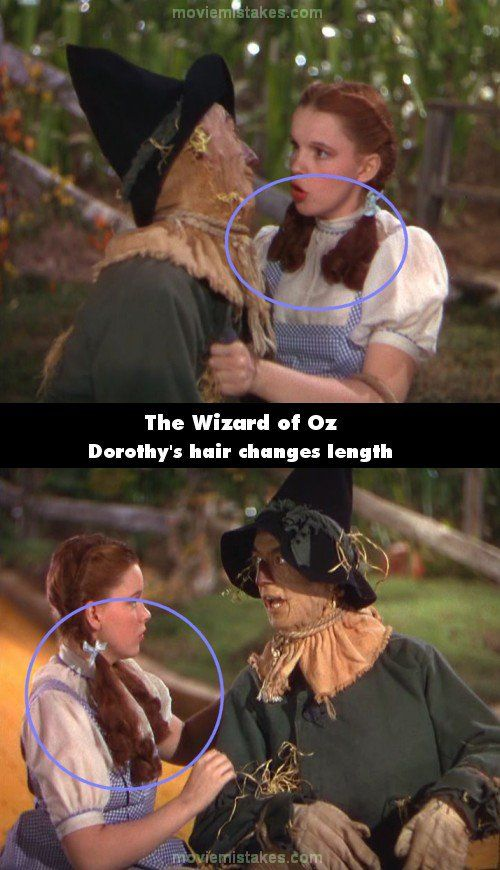 Picture of a mistake in The Wizard of Oz. Vote on your favourites and submit your own!