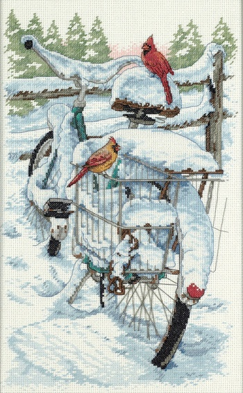 Bicycle Birds Cross Stitch Kit by Dimensions