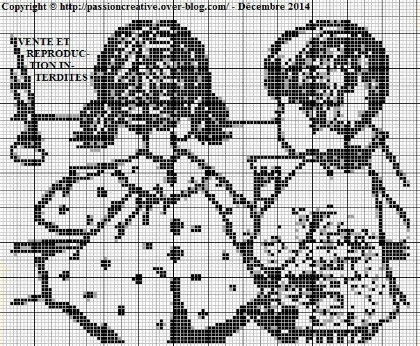 Les 446 meilleures images du tableau point de croix - Broderie point compte grille gratuite ...