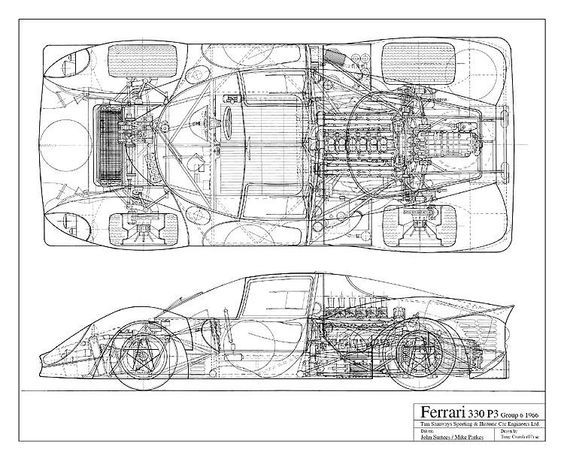 race car chassis blueprints