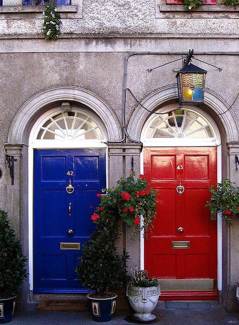 Blue door, red door, Ireland
