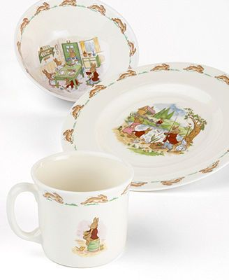Royal Doulton Bunnykins Childrenu0027s Dinnerware Set - Kidsu0027 u0026 Baby Room - For The Home - Macyu0027s & 12 best Bunnykins Dishes images on Pinterest | Dishes Royal doulton ...