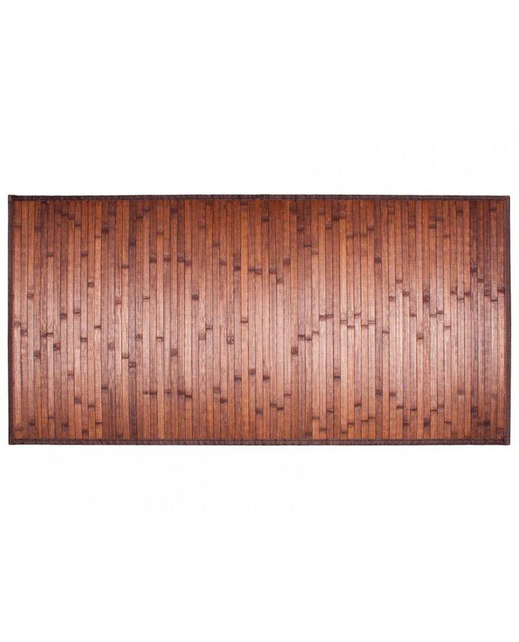 Alfombra Bambú Asia marrón ideal para decorar cualquier estancia.  El bambú es un material muy resistente, de fácil limpieza evitando la acumulación de suciedad