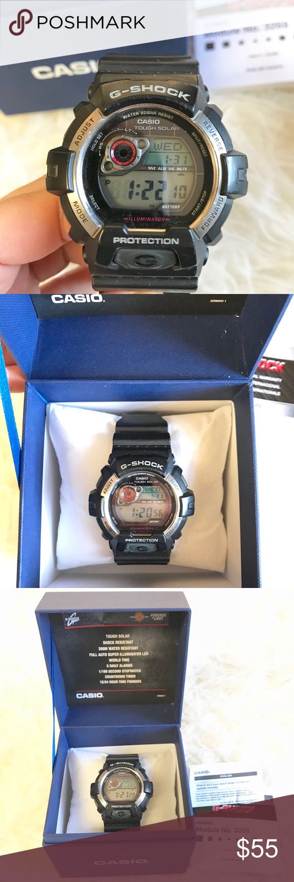 Casio G shock watch Casio G Shock Watch. Pre- loved and in excellent condition! Add your likes to a bundle and I'll send you a private discount! Casio Accessories Watches