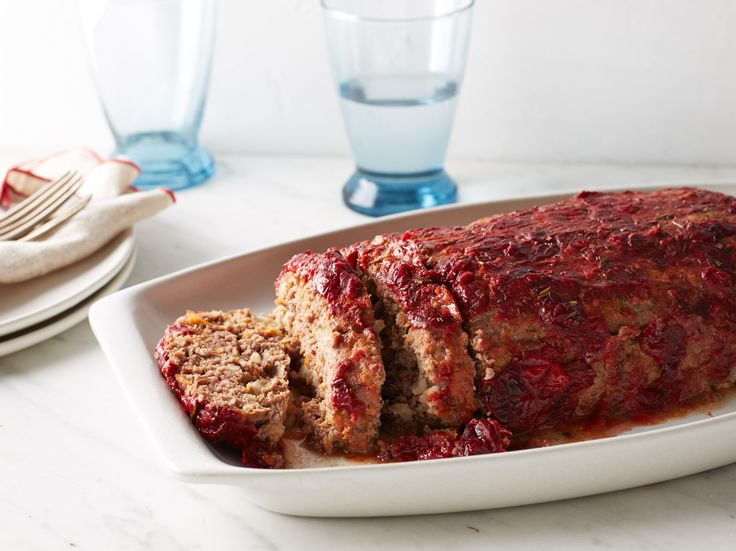 Turkey and Beef Meatloaf with Cranberry Glaze Recipe : Food Network Kitchen : Food Network - FoodNetwork.com