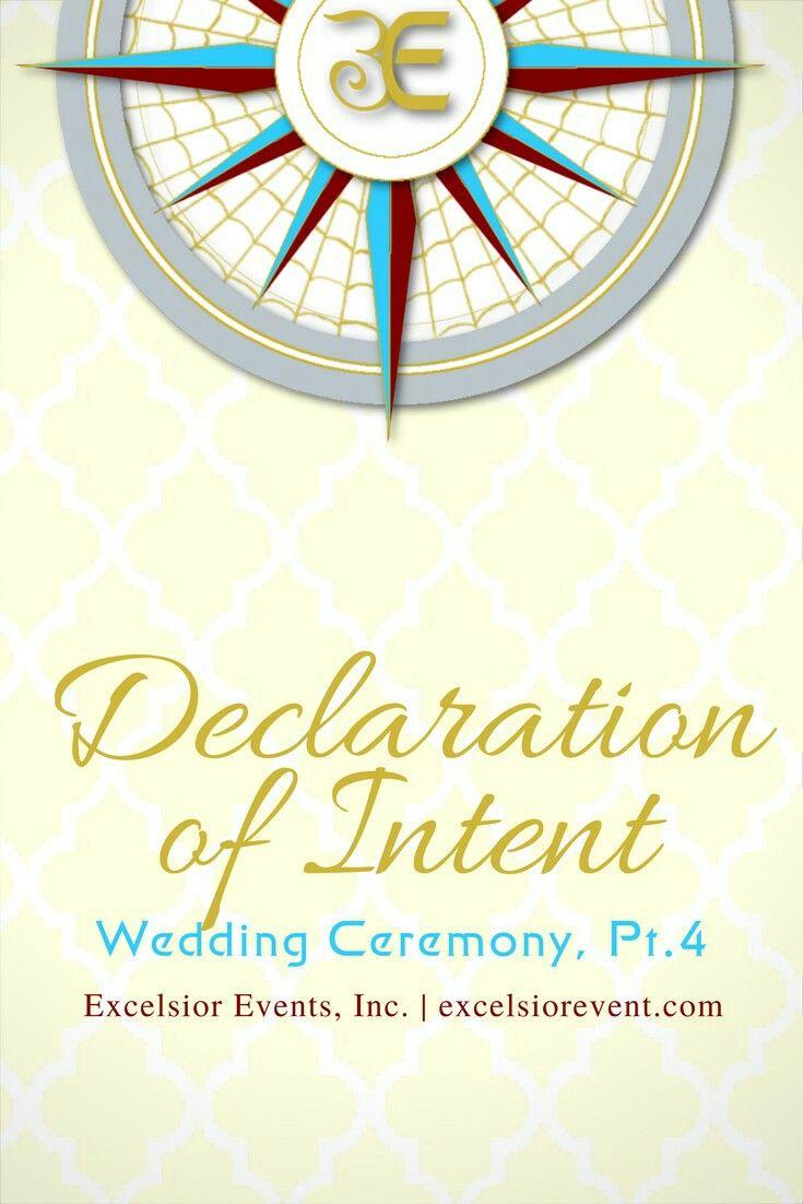 Wedding Ceremony Declaration Of Intent