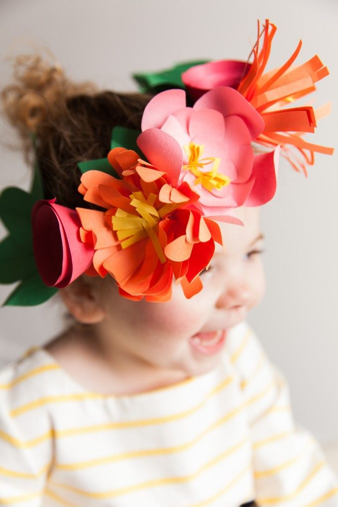 Paper flower crowns