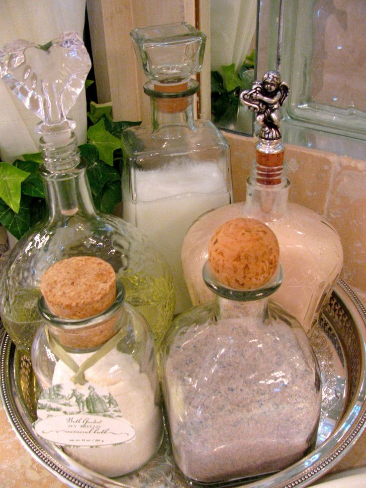 Tequila bottles to Bath salt/epsom salt holders. Really any nice alcohol bottle.