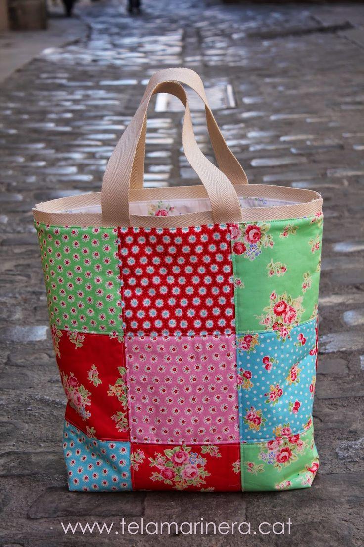 363 mejores im genes sobre bolsos i bosses de patchwork en - Manualidades patchwork bolsos ...
