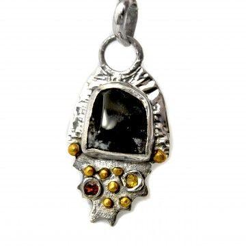 Agat dendrytowy #biżuteriasrebrna #biżuteria #wisiorsrebrny