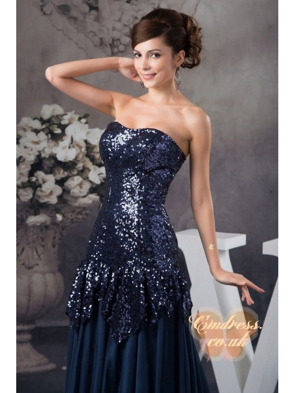 Elegant Custom-made Prom Dress Sequin Cloth Chiffon and Prosperous Cotton Bridesmaids Dresses