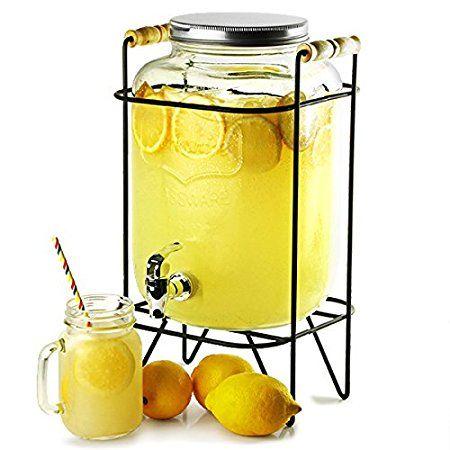 Yorkshire Mason Jar distributore di bevande con il basamento 8ltr | bar@drinkstuff Distributore di bevande, Mason Jar bevanda Dispenser, Dispenser succo di frutta, Dispenser da cocktail, Vintage distributore di bevande
