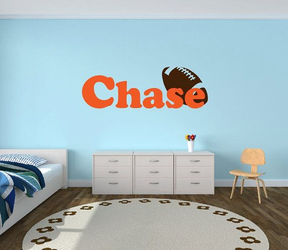 Personalized Football Name Decal  Sports Decor by NewYorkVinyl, $18.95
