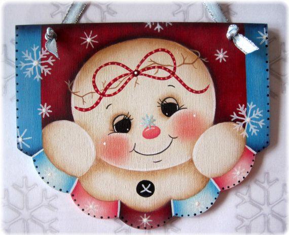 Miss Snowflake Snowman Painting E-Pattern por GingerbreadCuties