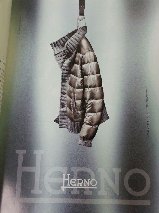 Herno sweater meets puffer. Choc