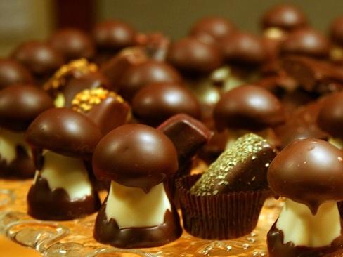 Michel Cluizel - Les Champignons, caramel & chocolate mushrooms