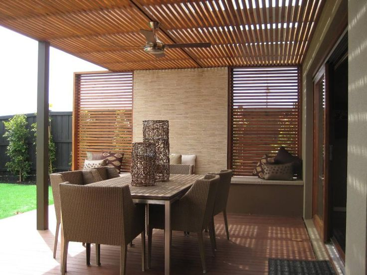 Patio slat roof from Outdoor Flair Galleries. Browse photos from Outdoor Flair