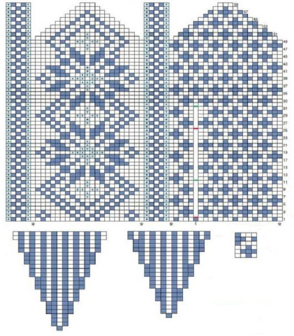 273 best Fair isle mitten patterns/charts images on Pinterest ...