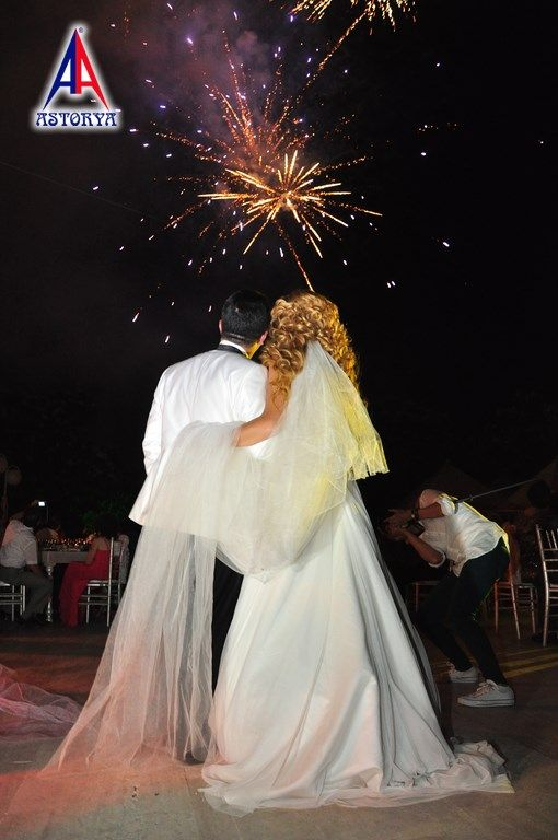 Aslanlar club düğün töreni havai fişek gösterisi 2