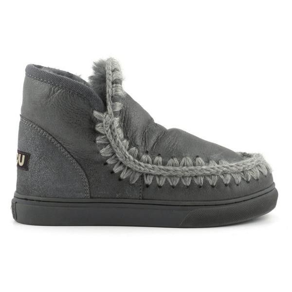 Mou Boots Mini Eskimo Sneaker Women Charcoal Metallic - MOU #mouboots #mousale #moubootssale #BlackFriday