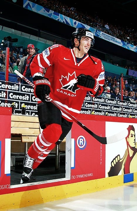 Look at his smile, he was just so happy to be playing for team Canada. :)))