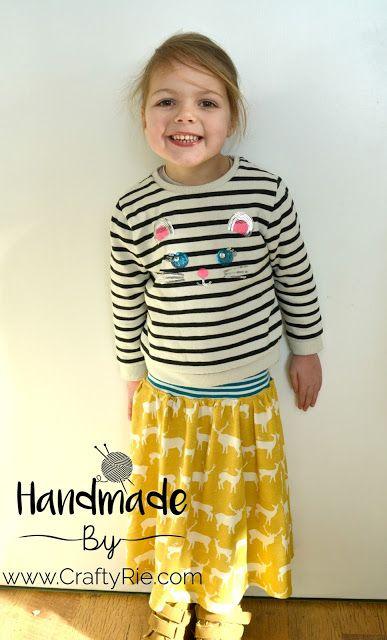 an easy '2 rectangles' skirt
