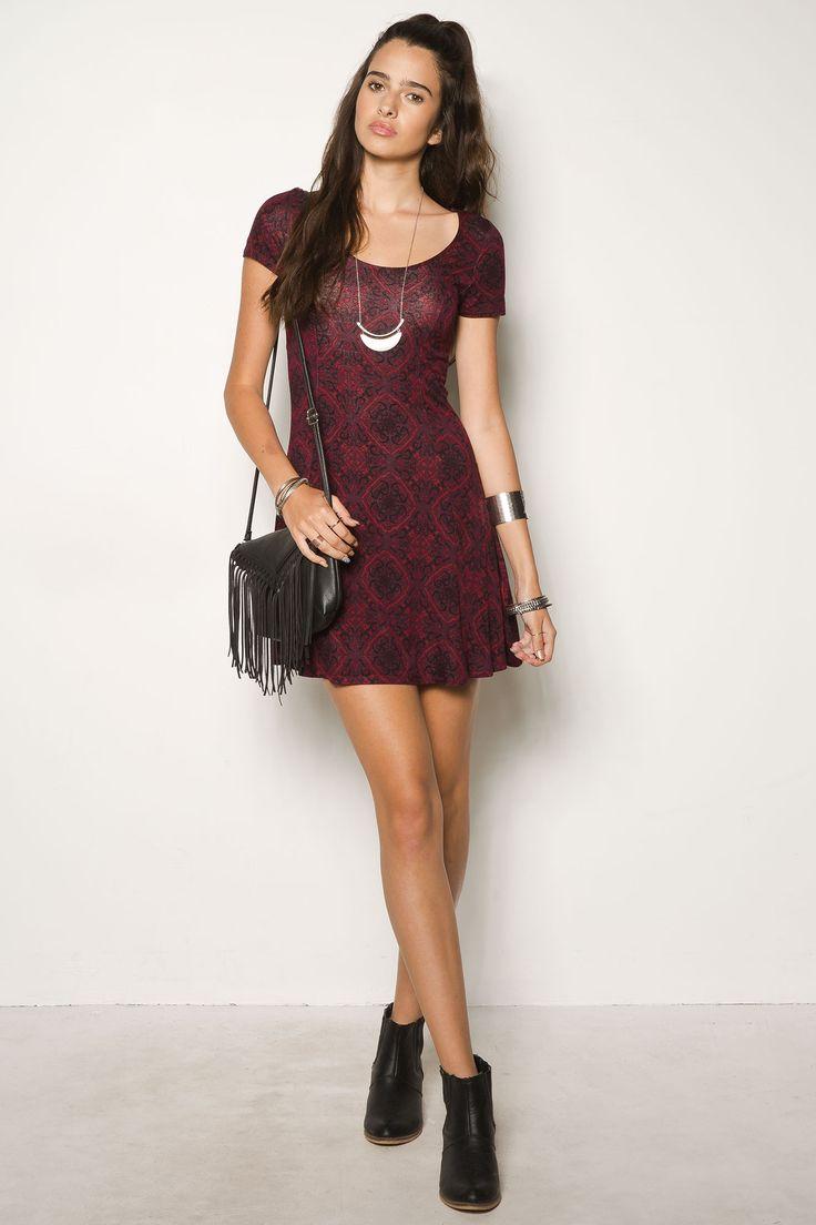 Girls Scoop Neck Swing Dress - $19.99